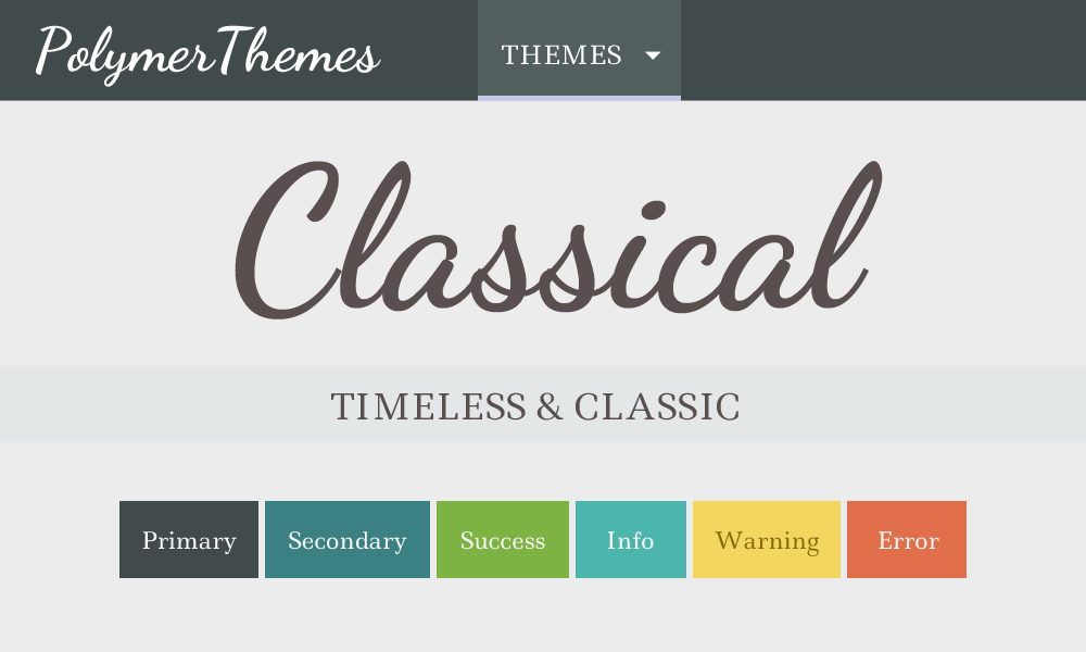 Classical theme preview