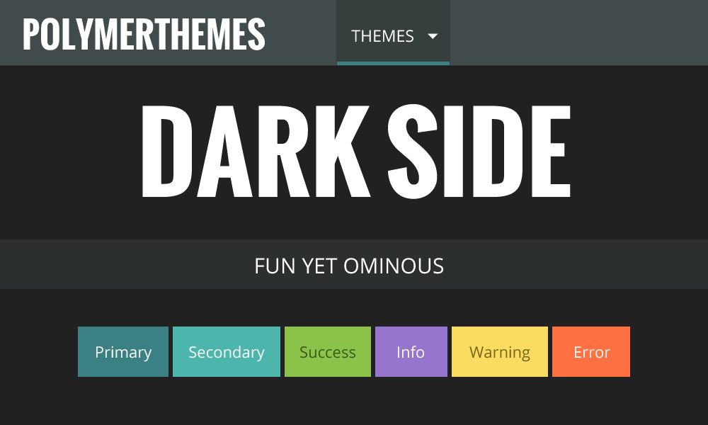 Dark Side theme preview