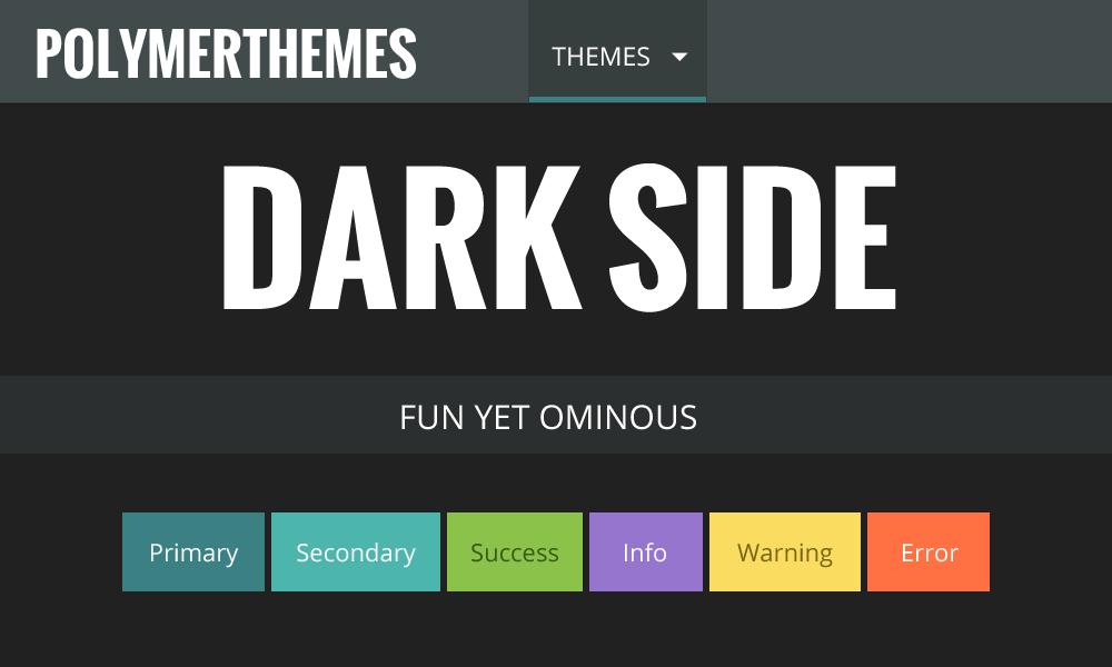 Polymerthemes free polymer themes templates dark side theme preview toneelgroepblik Images