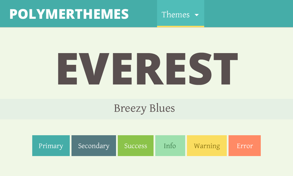 Everest theme preview