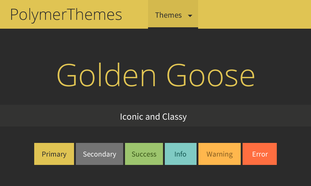 Golden Goose theme preview