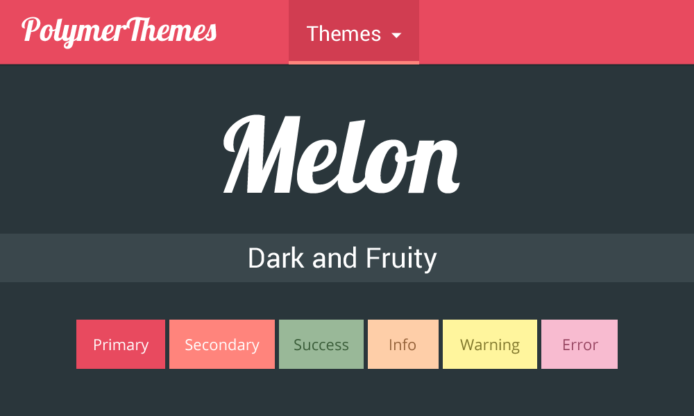 Melon theme preview