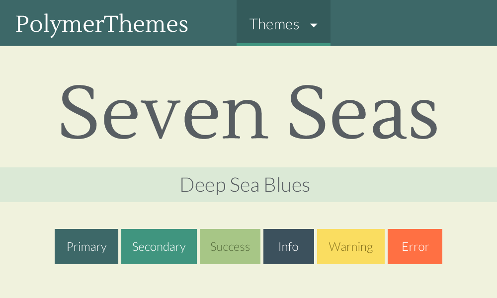Seven Seas theme preview