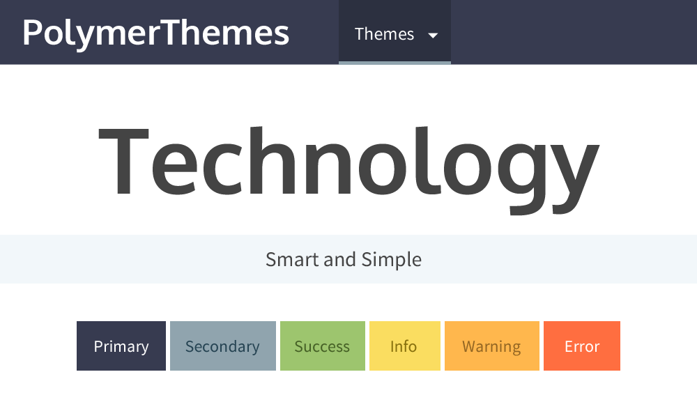 Technology theme preview