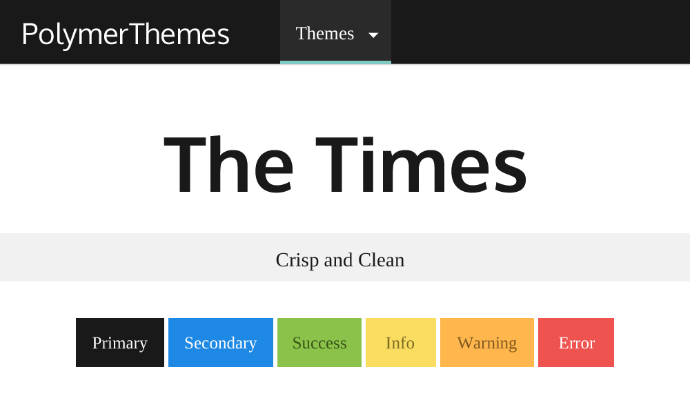 The Times theme preview