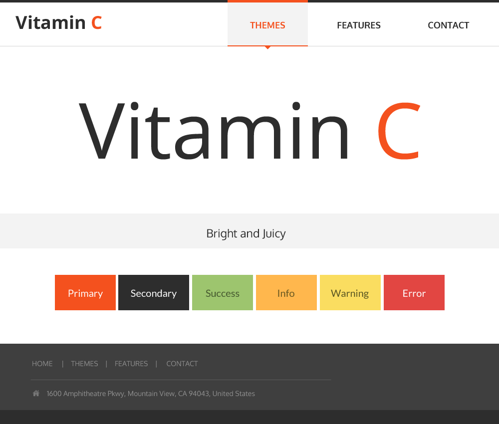 Vitamin C theme preview